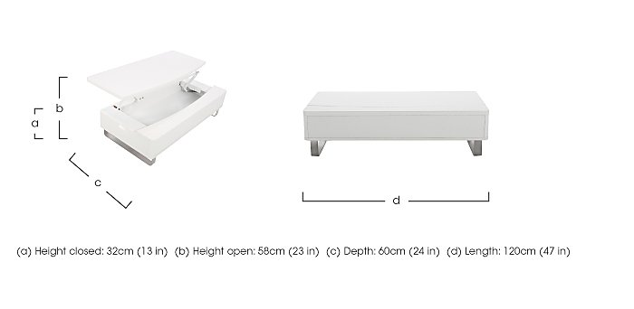 Elevate Storage Coffee Table - Only One Left! in  on Furniture Village