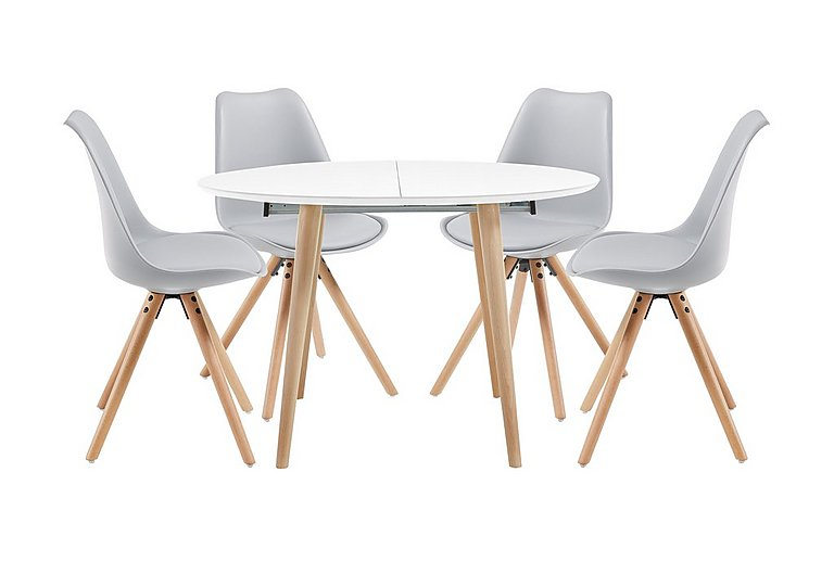 Espen Extending Round Table and 4 Dining Chairs - Only One Set Left! in  on Furniture Village
