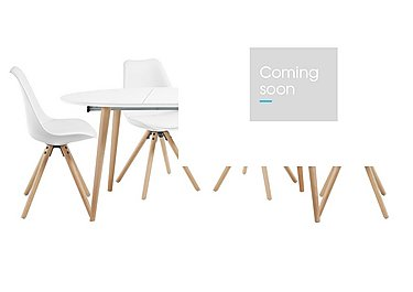 Espen Extending Oval Table 120/200cm and 4 Dining Chairs - Only One Set Left! in  on Furniture Village
