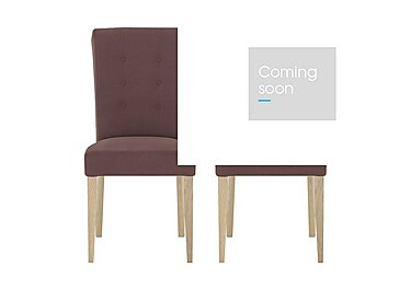 Pierre Pair of Upholstered Dining Chairs - Only One Pair Left! in  on Furniture Village