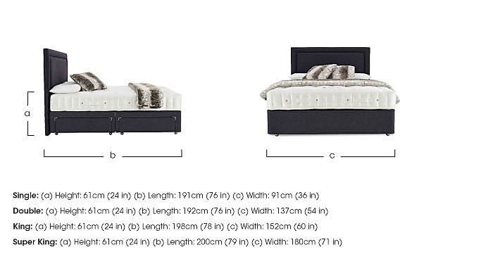 Hypnos Revive Ortho Wool Single Divan Set - Only One Left! in  on Furniture Village