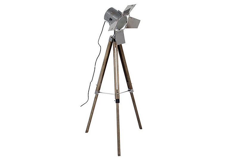 Wooden Tripod Film Floor Lamp