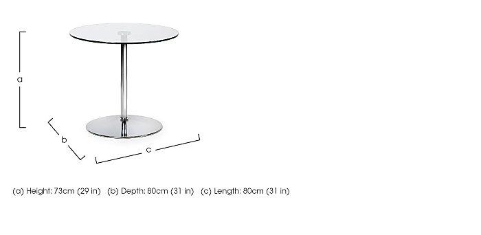 Zen Pedestal Dining Table in  on Furniture Village
