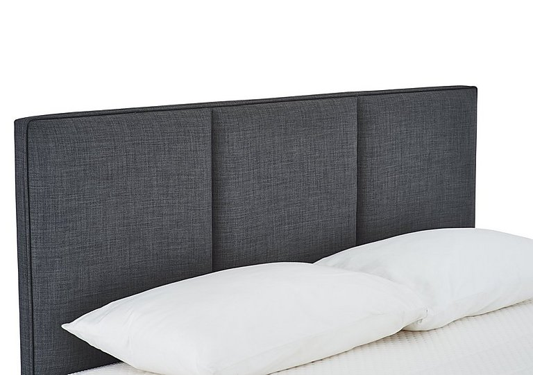 Paramount Headboard in Linoso Charcoal on Furniture Village