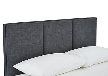 Solutions Paramount Headboard in Linoso Charcoal on Furniture Village