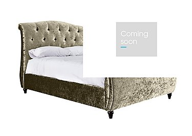 Evelyn High Foot End Bed Frame in Plush Oyster on Furniture Village