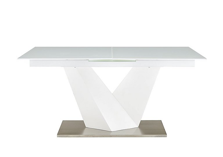 Panama Extending Dining Table in White on Furniture Village