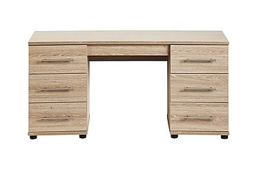 Amari Double Pedestal Dressing Table in Kkv - King Oak on Furniture Village
