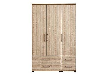 Amari 3 Door Gents Wardrobe in Kkv - King Oak on Furniture Village
