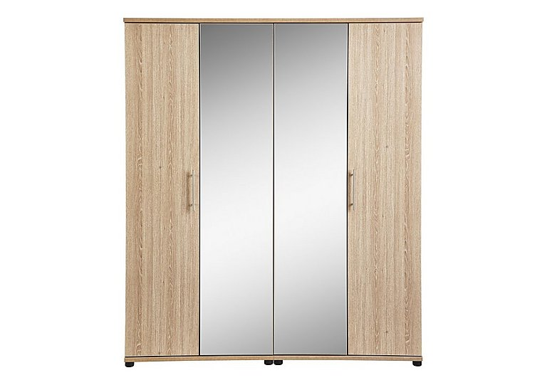 mirror wardrobe. amari 4 door centre mirror wardrobe a