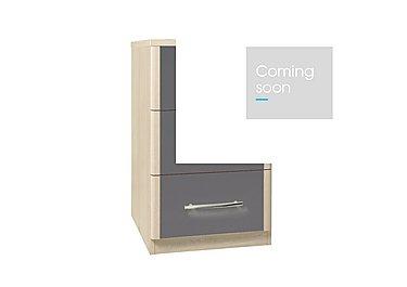 Kingsley 3 Drawer Narrow Chest in Atv - Tristan Grey on Furniture Village