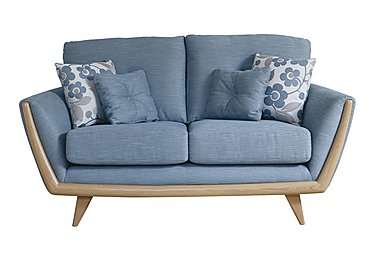 Scandi 2 Seater Sofa in Belman 253/153 Blue Grey on Furniture Village