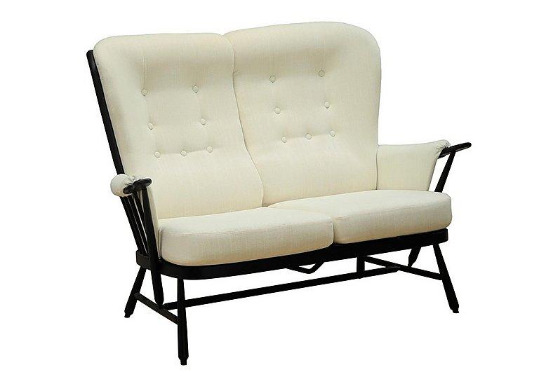 Evergreen High Back 2 Seater Sofa in Black  Bk on Furniture Village