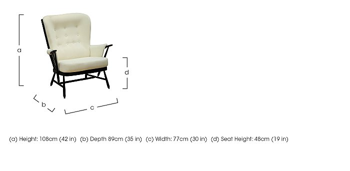 Evergreen High Back Easy Chair in  on Furniture Village