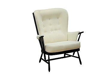 Evergreen High Back Easy Chair in Black  Bk on Furniture Village