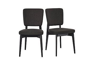 Abaco Chair Pair in Smoke Grey on Furniture Village