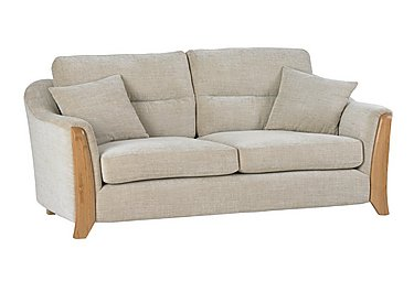 Ravenna 3 Seater Fabric Sofa in C415 Wood Finish on Furniture Village