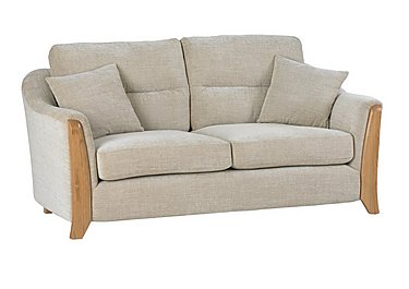 Ravenna 2 Seater Fabric Sofa in C415 Wood Finish on Furniture Village