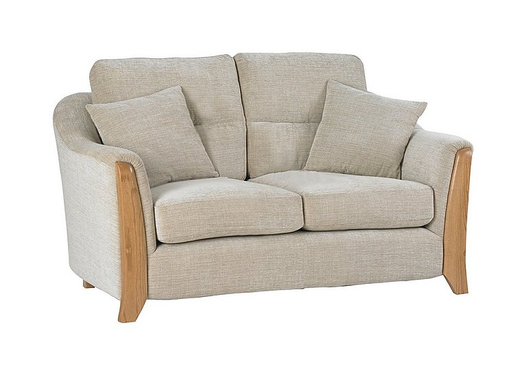 Ravenna Small 2 Seater Fabric Sofa in C415 Wood Finish on Furniture Village