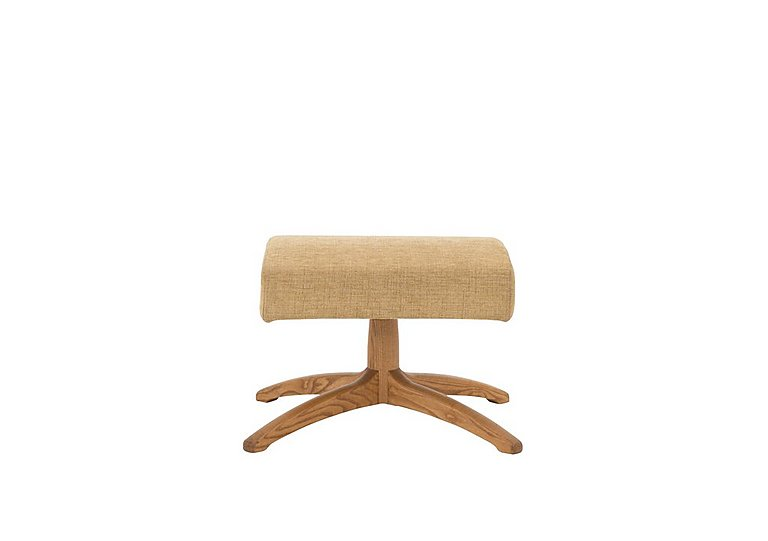 Gina Leather Footstool in L524  Wood Finish on Furniture Village