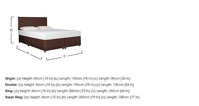 Ardennes Divan & 21cm Cloud Mattress Set in  on Furniture Village