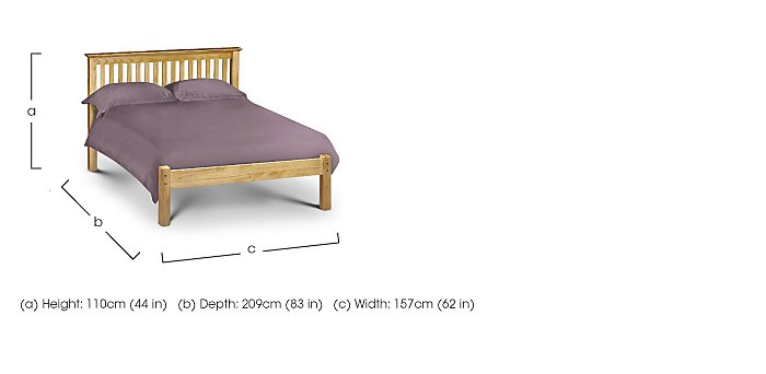 Chilton Pine Low Foot Bed Frame in  on Furniture Village