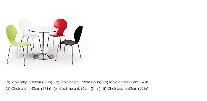 Spectra Table and 4 Dining Chairs in  on Furniture Village