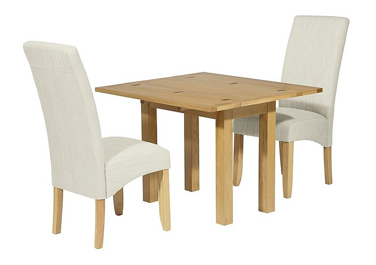 Finley Extending Table and 2 Chairs in Putty on Furniture Village
