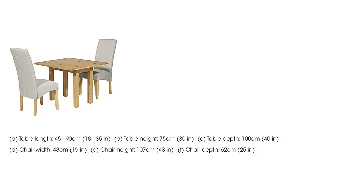 Finley Extending Table and 2 Chairs in  on Furniture Village