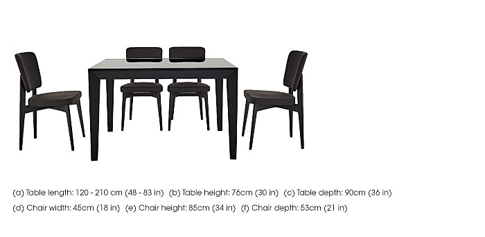 Abaco Extending Table and 4 Chairs in  on Furniture Village