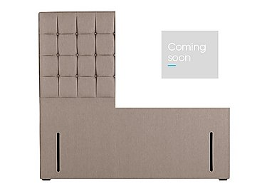 Adcote Floor Standing Headboard in 564 Imperio 903 Stone on Furniture Village