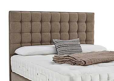 Adcote Floor Standing Headboard in 324 Chocolate Weave on Furniture Village