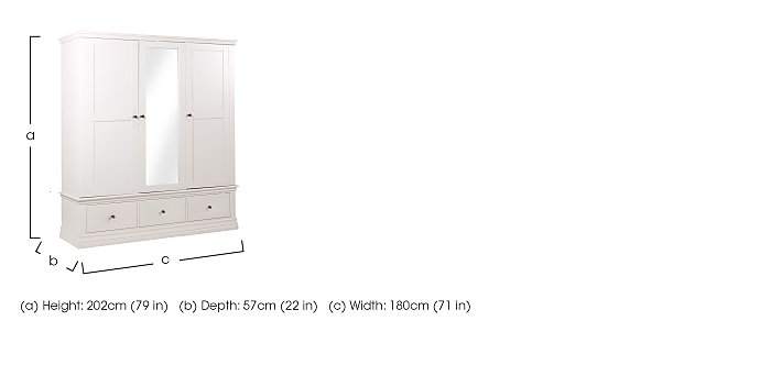Ambriella Triple Wardrobe in  on Furniture Village