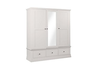Ambriella Triple Wardrobe in Cotton on Furniture Village
