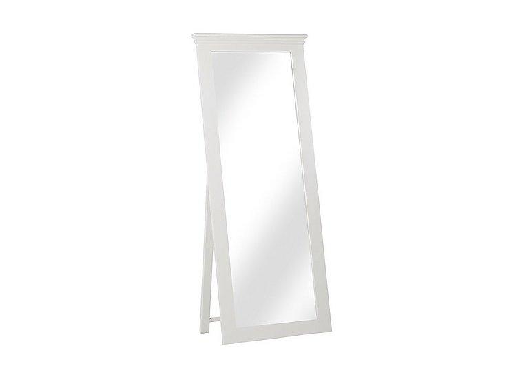 Ambriella Cheval Mirror in Cotton on Furniture Village