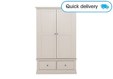 2 Door Double Wardrobe Mohogany Effect Home, Furniture & Diy Bedroom Furniture Cupboard Moderate Price Wardrobes