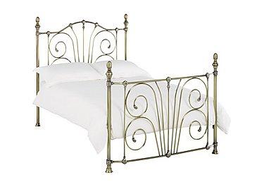 Rebecca Bed Frame in Antique Brass on Furniture Village