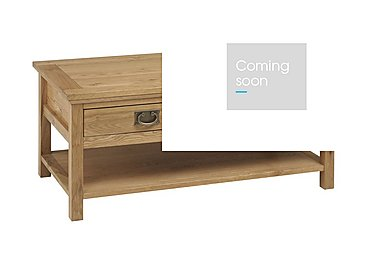 Compton Coffee Table in Oak on Furniture Village