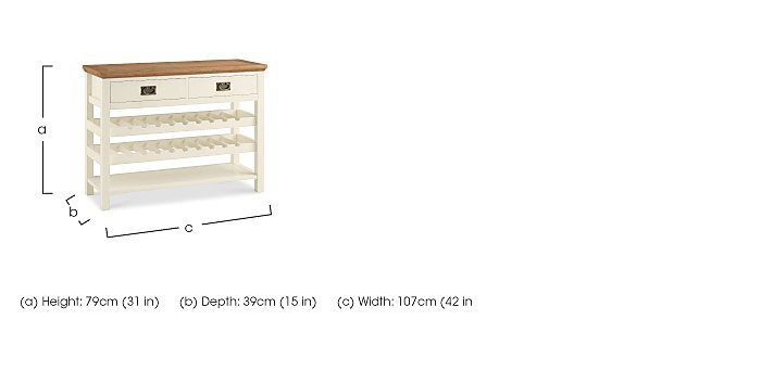 Compton Console Table in  on Furniture Village