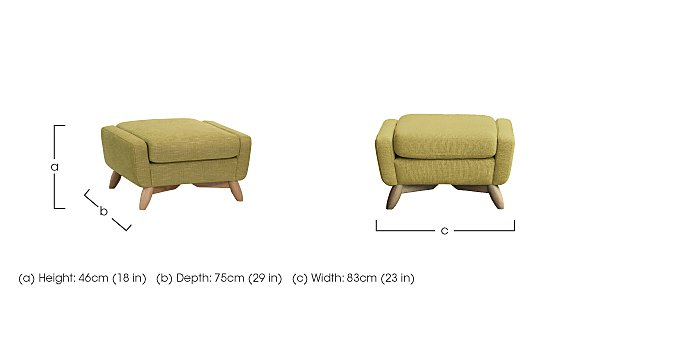 Cosenza Footstool in  on Furniture Village