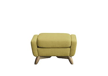 Cosenza Fabric Footstool in T302 Pistachio-Clear Matt Only on Furniture Village