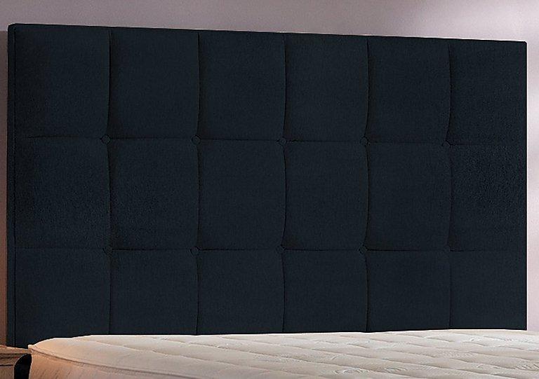 Cube Headboard in Black Chenille on Furniture Village