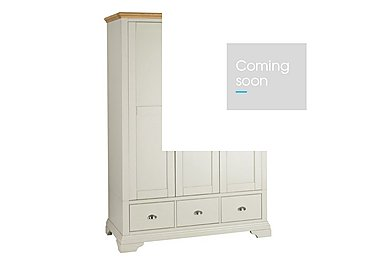 Emily Triple Wardrobe in Soft Grey And Oak on Furniture Village