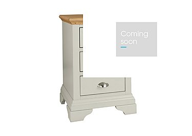 Emily 3 Drawer Bedside Chest in Soft Grey And Oak on Furniture Village