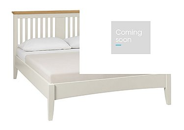 Emily Bed Frame in Soft Grey And Oak on Furniture Village