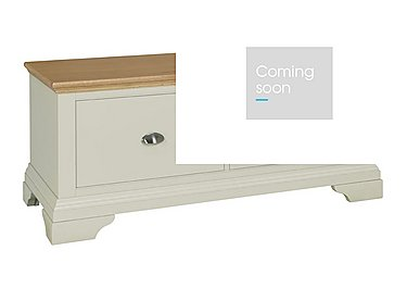 Emily Blanket Box in Soft Grey And Oak on Furniture Village