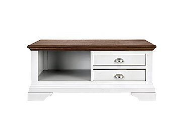 Emily Coffee Table in Soft Grey And Walnut on Furniture Village