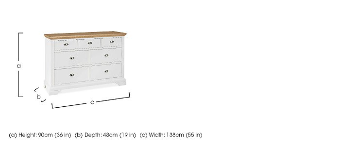 Emily 7 Drawer Chest in  on Furniture Village