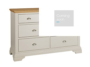Emily 7 Drawer Chest in Soft Grey And Oak on Furniture Village