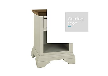 Emily Lamp Table in Soft Grey And Walnut on Furniture Village